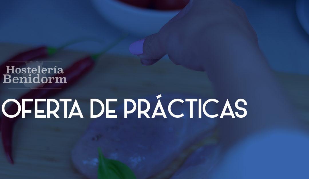OFERTA DE PRÁCTICAS: AYUDANTE COCINA