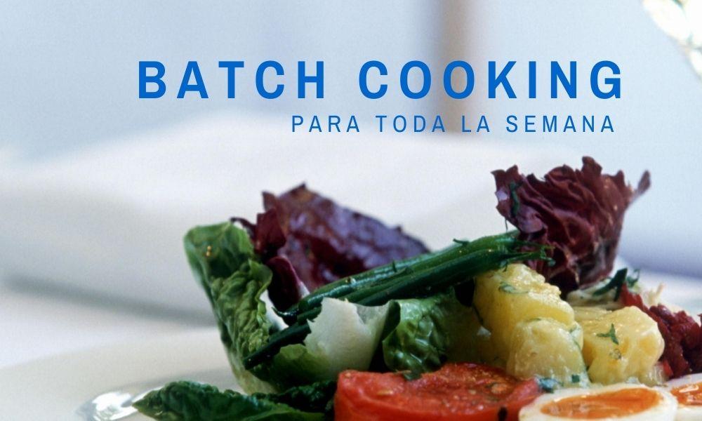 Planea tus comidas con el batch cooking